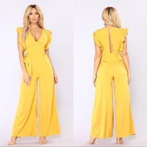 Fashion Nova City of Angels ruffled jumpsuit